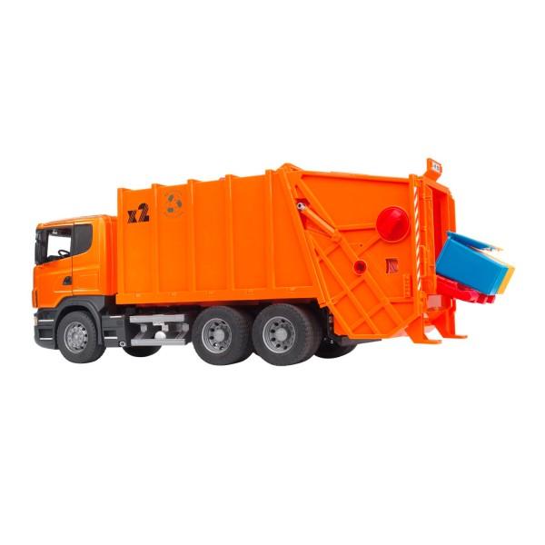 BRUDER Kinder Spielzeug Sacania R-Serie Müll LKW Müllauto Müllfahrzeug / 03560