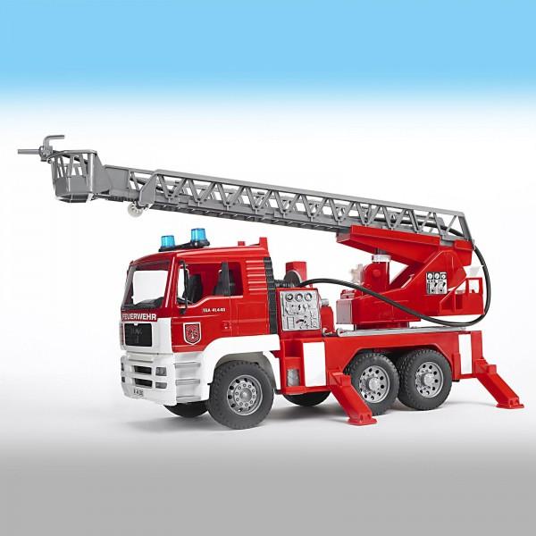 Bruder MAN Feuerwehr + Drehleiter + WP 02771