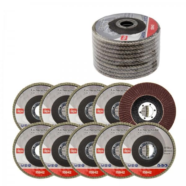 Fächerscheiben K80 115 mm 10er Set