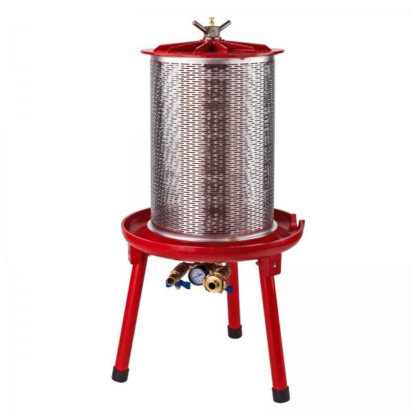 20 Liter L Hydropresse Saftpresse Obstpresse Maischepresse mit Wasserkraft