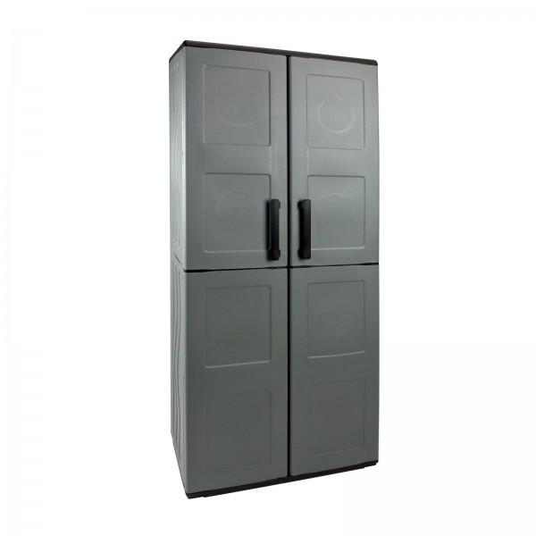 Kunststoffschrank 68x37x163 cm mit 3 Böden