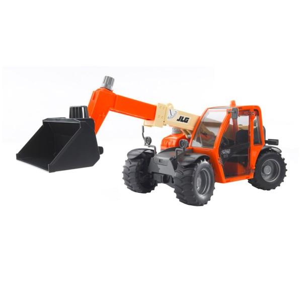 BRUDER Kinder Spielzeug Teleskoplader JLG Lader 2505 mit Schaufel orange / 02140