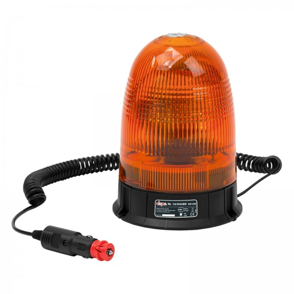 LED Rundumleuchte gelb 12V mit Magnetfuß