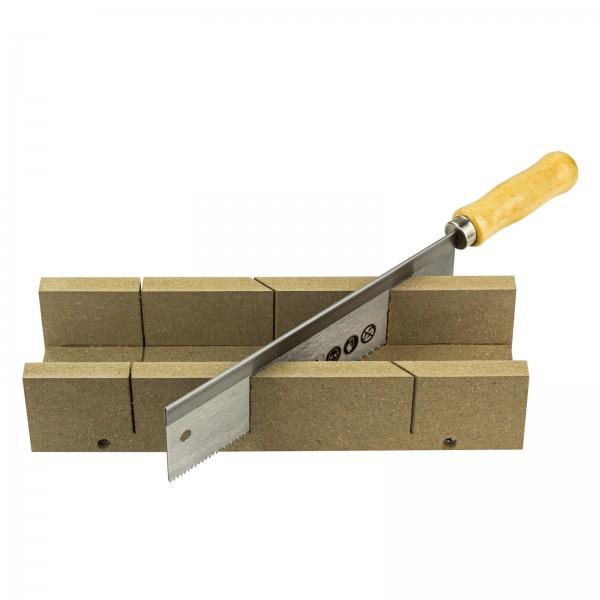 Feinsäge mit Holzgriff und Holz Schneidlade