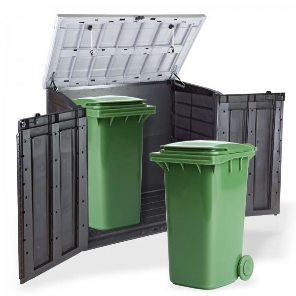 Keter XL Mülltonnenbox für 2x240 Liter Behälter