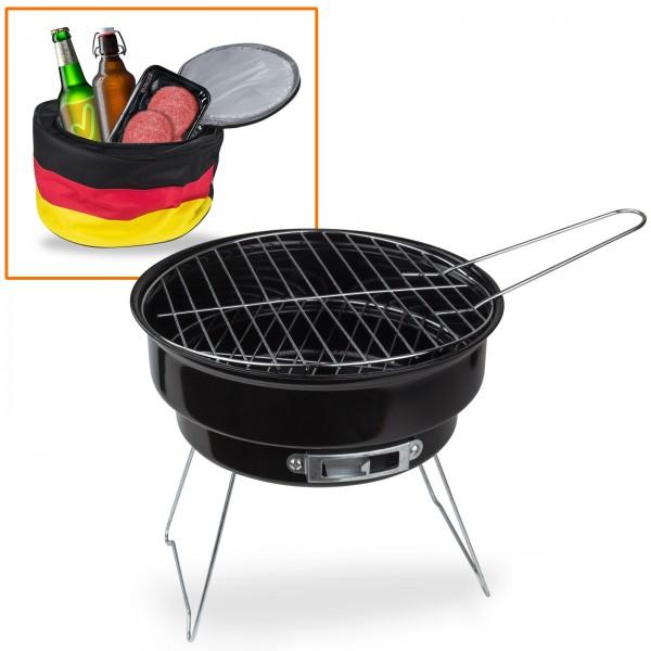 Grill mit Kühltasche Deutschland 2 in 1