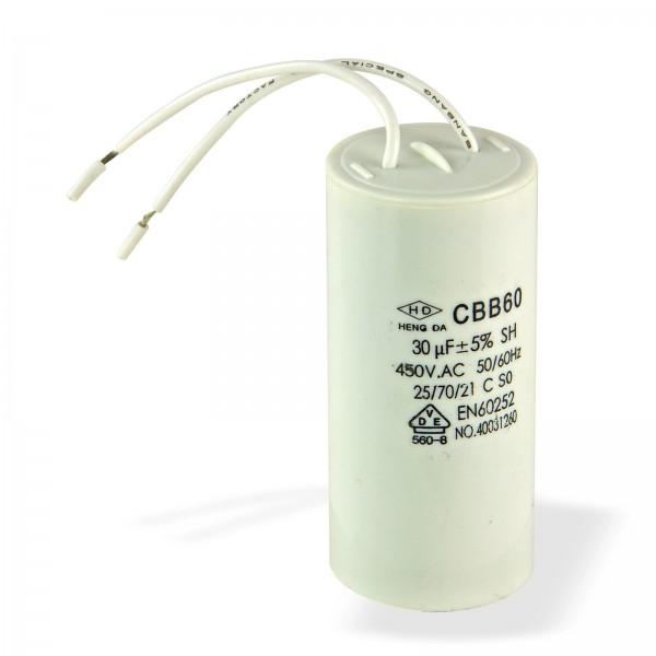 Kondensator 30µF für DEMA Holzspalter DHS4 u. DHS5UG Artikelnummer 61961 + 61962