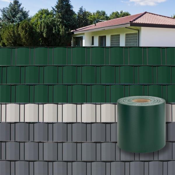 PVC Balkon Terrasse Garten Sichtschutzstreifen Sichtschutz 35 m x 19 cm grün