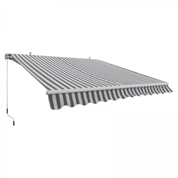 Alu-Markise grau/weiß 3 x 2,5 m