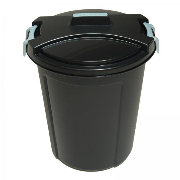 Mülleimer mit Deckel & Schließklipp 46 Liter