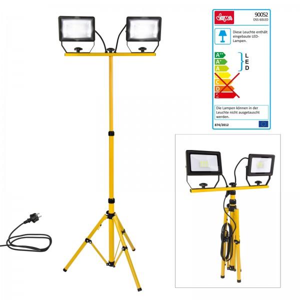 LED-Strahler Slim 2x30W mit Stativ