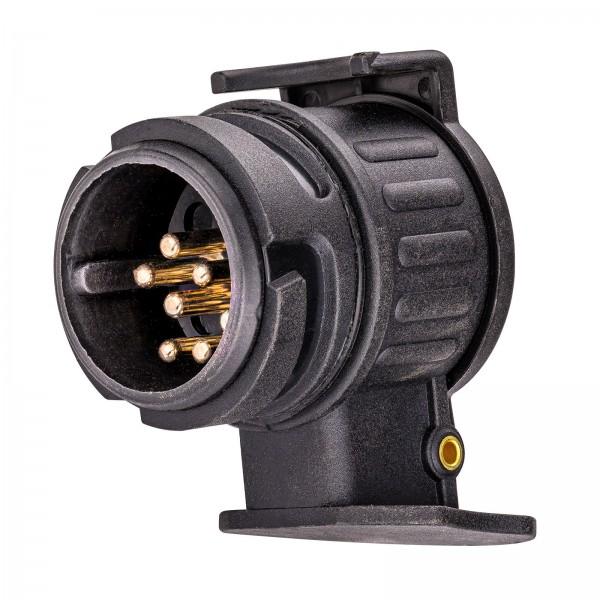 PKW Anhänger Anhängerzubehör Adapter kurz Miniadapter 13 auf 7 polig 50 mm