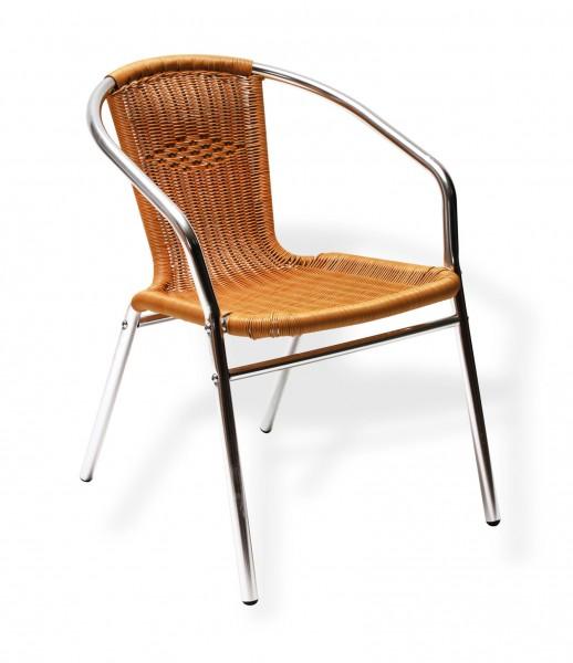 Alu-Gartenstuhl mit Komfort Sitzfläche