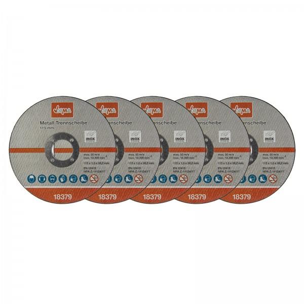 Metall Trennscheiben Set 5er 115 mm / 1,0