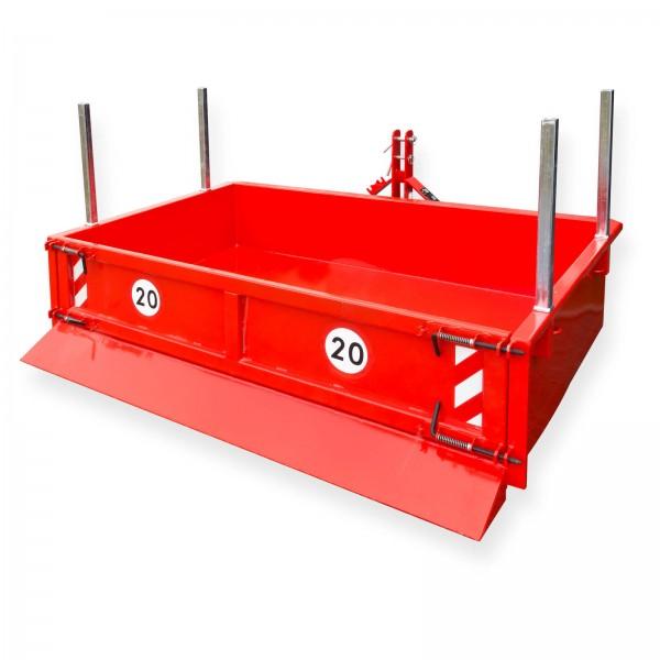 Heckcontainer hydraulisch 125x200x40 cm