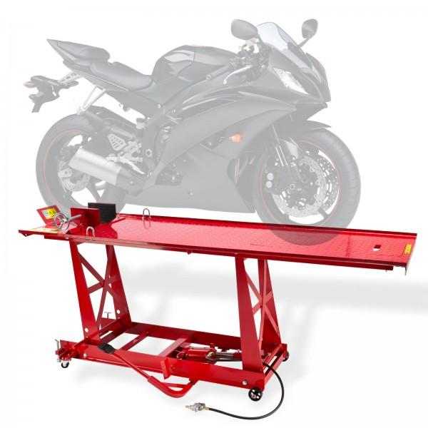 Motorrad Montagerampe Motorradhebebühne Hebebühne 450kg Pneumatisch