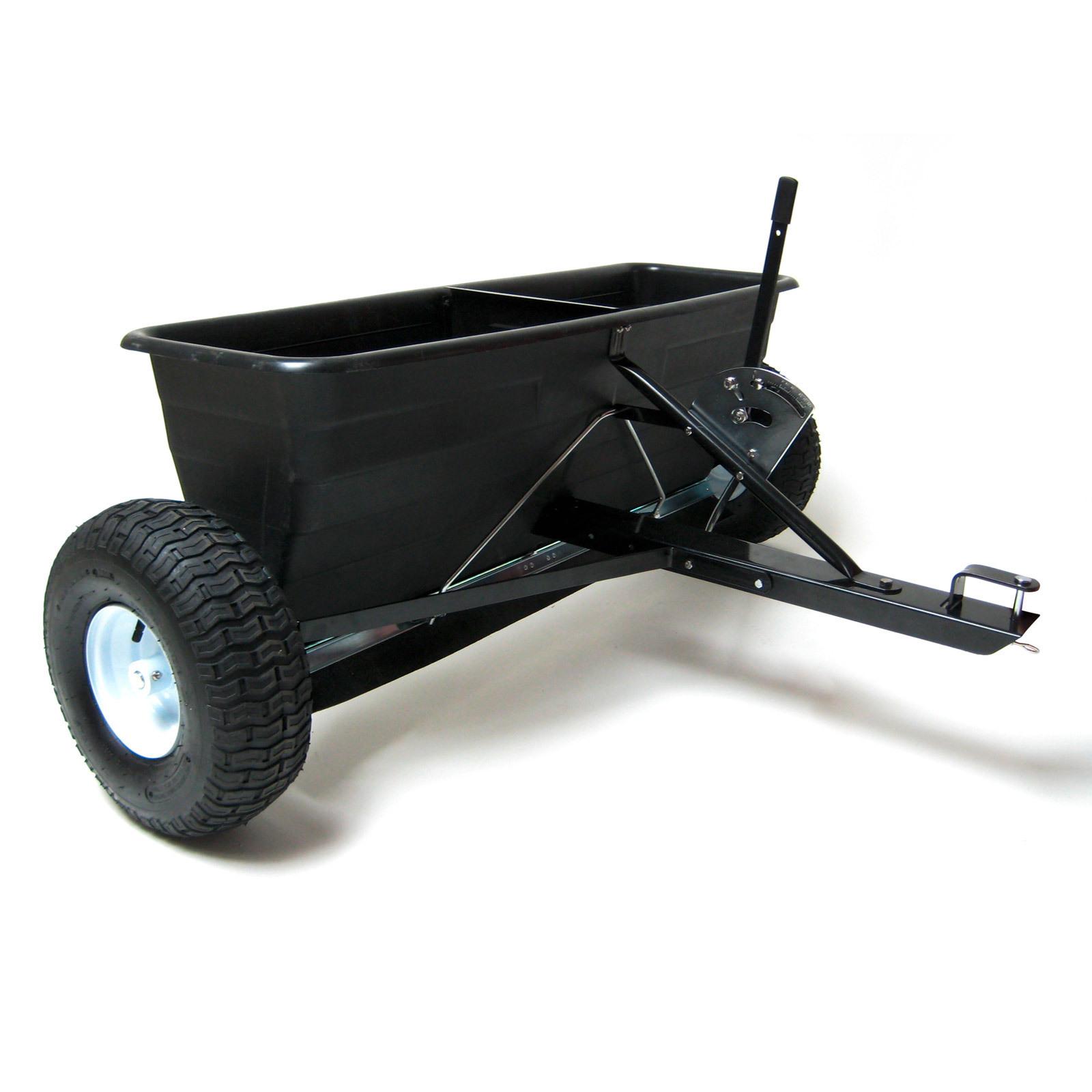 Streuwagen Salzstreuer Düngestreuer Saatgut 45l 36 kg mit Anhängerkupplung