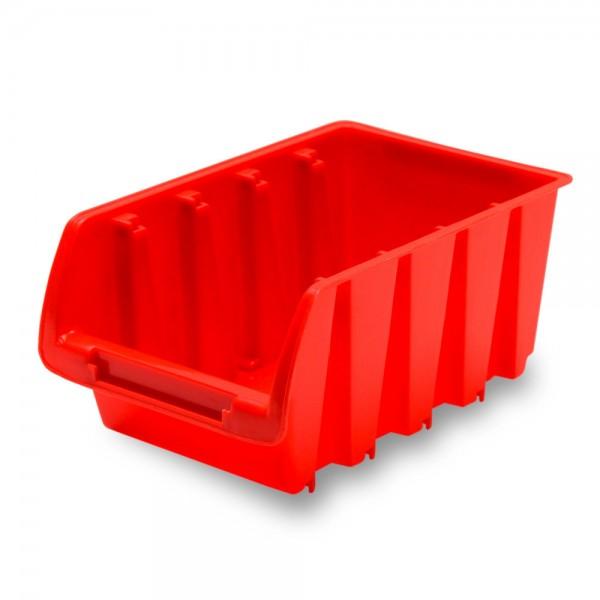 Sichtlagerkasten 16,5x10,5x7,5cm / rot Gr.2